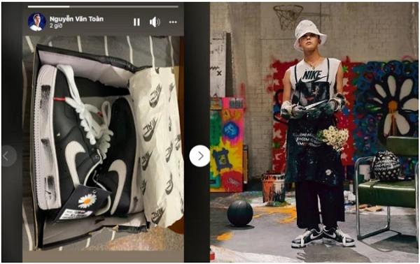 Văn Toàn tậu siêu phẩm giày hoa cúc của 'ông hoàng thời trang' G-Dragon.