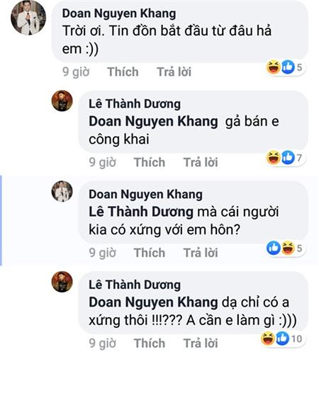 Nguyên Khang, Khả Như cũng hài hước với chia sẻ của Ngô Kiến Huy.