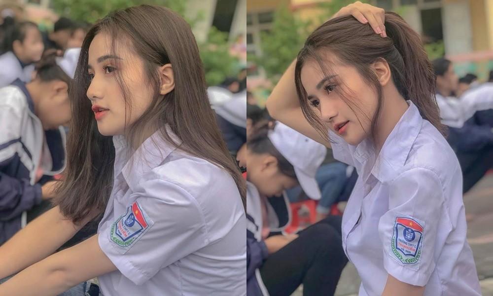 'Thiên thần đồng phục' Hà Nam gây sốt trên báo Trung nhờ nhan sắc được ví như Angelababy 1