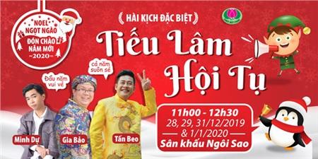 Danh hài Tấn Beo, Minh Dự và Gia Bảo hội ngộ khán giả Đầm Sen dịp tết dương lịch 2020 (11h00, từ 28/12 - 1/1/2020)