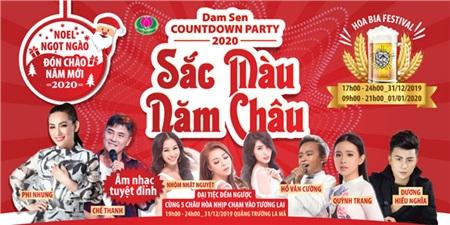 Đêm 31/12/2019 tại Đầm Sen, trước khi được thưởng thức pháo hoa nghệ thuật đỉnh cao, du khách sẽ có một đêm cuồng nhiệt với âm nhạc quy tụ dàn ca nghệ sĩ tên tuổi.
