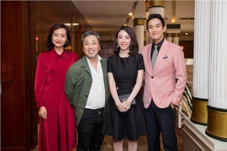 Thu Trang - Hồng Ánh - Hứa Vỹ Văn và đạo diễn Quang Dũng