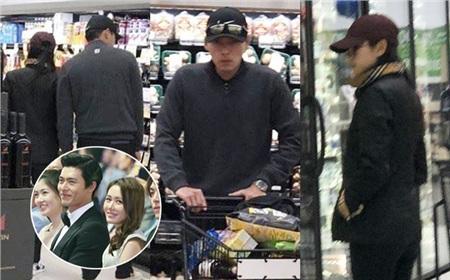...và bức ảnh đi siêu thị với nhau ở Mỹ