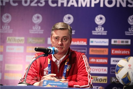 Huấn luyện viên trưởng U23 UAE cũng rất tự tin thắng U23 Việt Nam ở trận đấu đầu tiên tại vòng chung kết U23 châu Á 2020. (Ảnh: Nguyên An/Vietnam+)
