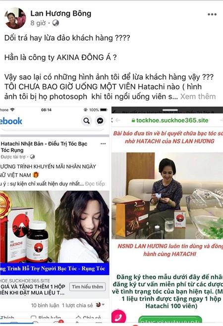 Hình ảnh của 'Mẹ chồng' khó tính Lan Hương bị dùng trái phép liên tiếp vì quá nổi tiếng.
