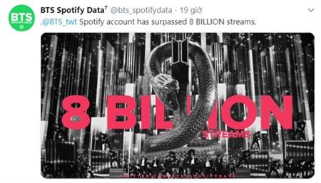BTS vượt 8 tỷ stream trên Spotify, là nhóm nhạc Kpop đầu tiên làm được việc này! 0