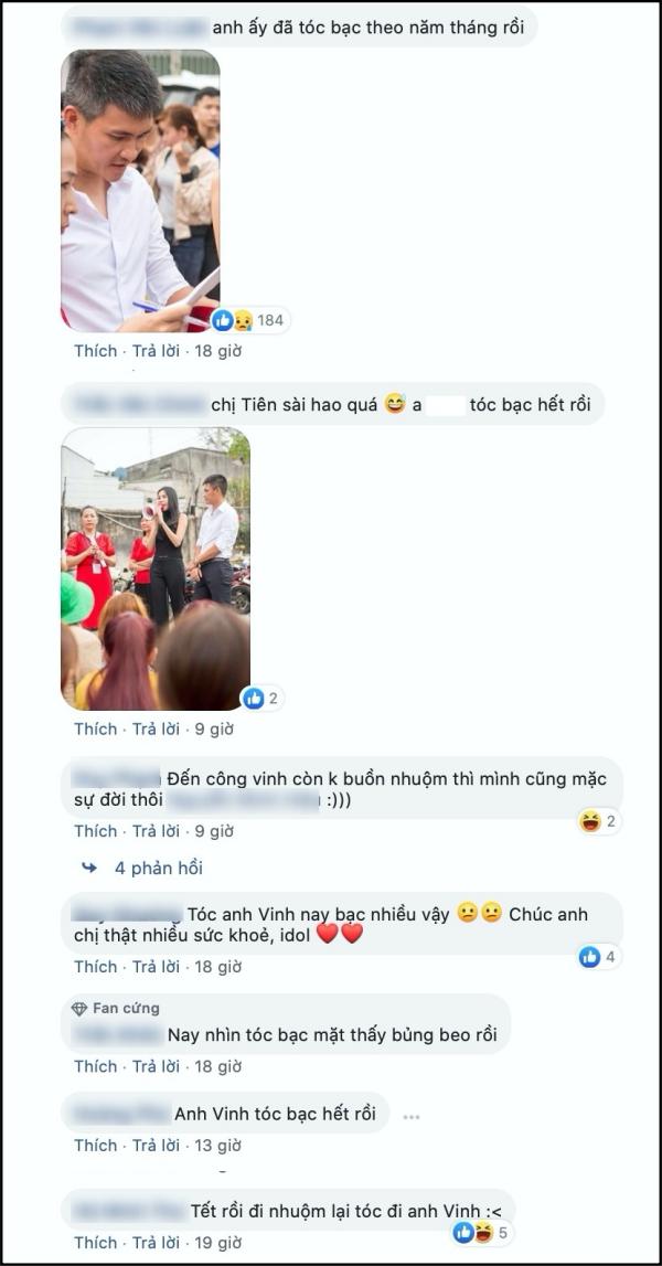Bên cạnh số tiền từ thiện khủng cùng hành động thiện nguyện bất chấp đường xa, nắng nóng của Thủy Tiên - Công Vinh, các fan còn quan tâm đến mái tóc bạc của cựu tiền đạo số 1 Việt Nam năm nào.