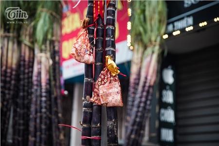 Trên cây nêu thường được trang trí thêm túi lộc, gồm: túi đỏ, muối, diêm. Những thứ này được người dân Việt tin rằng sẽ giúp xua đuổi những tà khí, năm mới sẽ bình an, khỏe mạnhvà phát đạt.