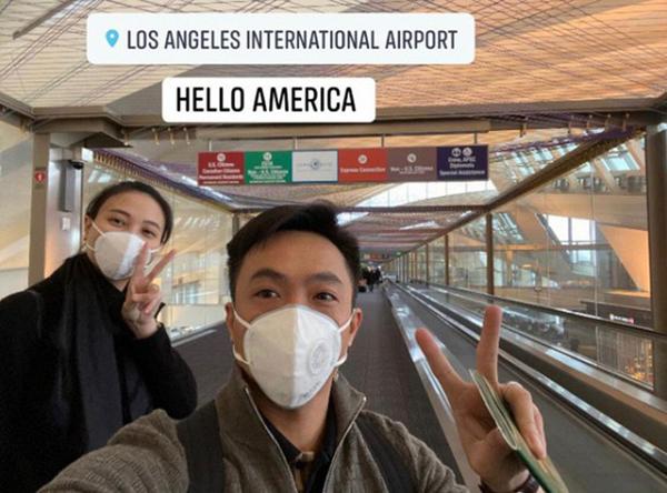 Đầu xuân năm mới, Cường Đô la và Đàm Thu Trang cùng nhau đi Mỹ du xuân. Tất nhiên rồi, với bà bầu Đàm Thu Trang thì việc đeo khẩu trang bảo vệ bản thân ở nơi đông người là điều vô cùng quan trọng.