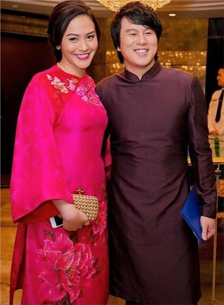 Thanh Bùi kết hôn cùng doanh nhân Trương Huệ Vân cuối năm 2013.