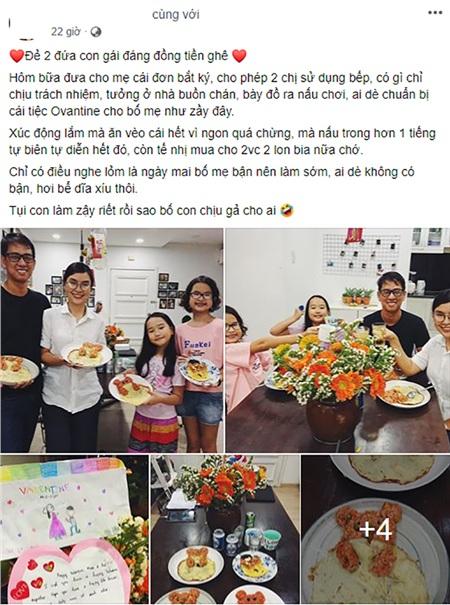 Một Valentine rất khác với câu chuyện về lá đơn xin được vào bếp để chuẩn bị 'bàn tiệc tình nhân' cho bố mẹ 0