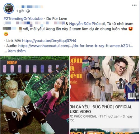 MV 'Do for love' lọt Top 2 Trending sau 48h ra mắt, B Ray 'úp mở' về màn hợp tác cùng Đức Phúc 3