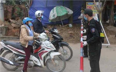 Một chốt kiểm dịch tại xã Sơn Lôi, huyện Bình Xuyên, tỉnh Vĩnh Phúc - Ảnh: Nguyễn Hưởng
