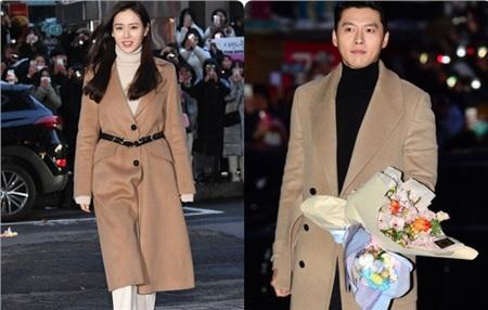 Nhiều netizen cho rằng Hyun Bin và Son Ye Jin diện đồ đôi khi xuất hiện tại bữa tiệc mừng công.
