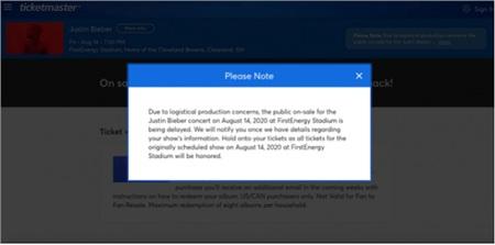 Ban tổ chức thông báo tạm ngừng bán vé vì vấn đề hậu cần.