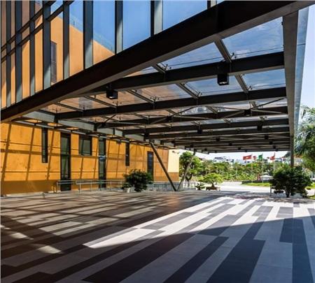 Kiến trúc bên trong ĐH Văn Lang mang hơi thở của thời hiện đại