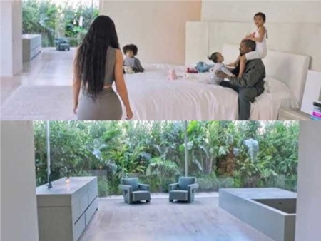 Cặp đôi sở hữu rất nhiều căn biệt thự tại California. Cả gia đình hiện đang sinh sống chủ yếu tại căn biệt thự có giá mua và tu sửa lên tới 60 triệu USD (gần 1.400 tỷ đồng). Biệt phủ Kim - Kanye được thiết kế với phong cách tối giản tuyệt đối và phải mất tới 4 năm để sửa chữa.