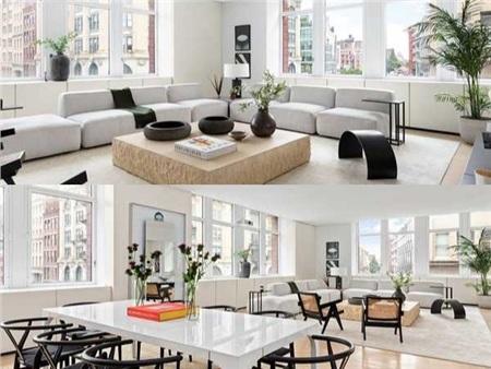 Tại thành phố đắt đỏ và sôi động New York, Kanye West sở hữu một căn hộ theo lối tối giản. Giá trị của căn hộ đẹp như mơ này không hề dễ chịu chút nào: 4,3 triệu USD (gần 100 tỷ đồng).