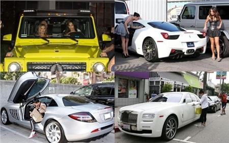Trong kho tàng xe hơi đồ sộ của mình, Kim Kardashian còn được biết tới là chủ nhân của các dòng xe Mercedes-Benz G-Wagon, Ferrari 458 Italia, Mercedes-Benz SLR, Rolls Royce Ghost,...