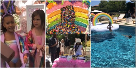 Kim Kardashian còn rất chịu chi trong việc tổ chức sinh nhật cho gái lớn North West.