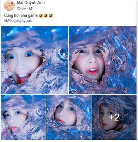 Thì Mai Quỳnh Anh cũng hài hướctự nhận 'phá game'
