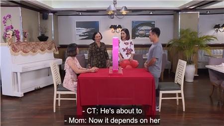 Phát ngôn của người mẹ 'bà nội thiên hạ' trong show hẹn hò khiến MC Cát Tường bức xúc: 'Mới vô mà cô đã bảo không được rồi' 9