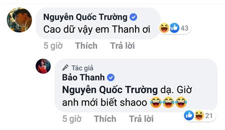 Dòng bình luận của diễn viên Quốc Trường khi thấy Bảo Thanh 'cao dữ'.