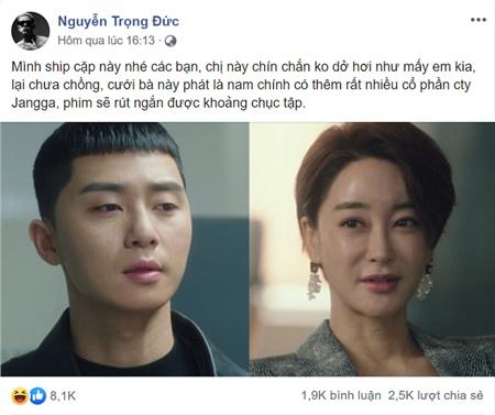 Bài đăng của nam rapper nhóm Da Labnhận được hơn 8000 likes và gần 2000 bình luận từ dân mạng