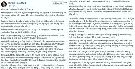 Bài đăng của Orange.