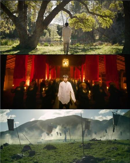 Cảnh tượng hùng vĩ, không khác gì phim điện ảnh trong MV mới của BTS.