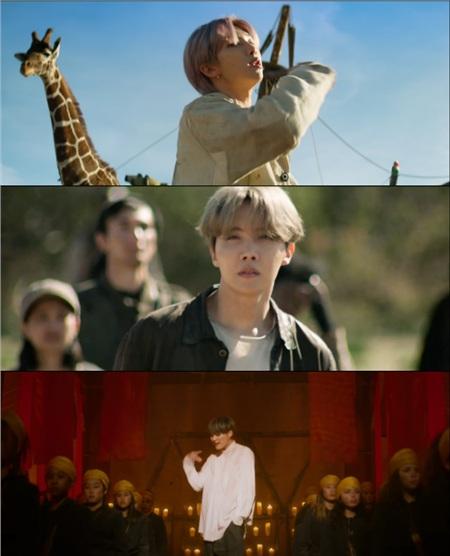 Tạo hình của 7 thành viên BTS trong MV mới.
