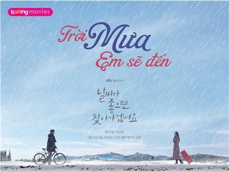 Với ngày mưa, dù hơi ướt át nhưng sẽ đảm bảo được độ lãng mạn của chuyện tình, nhất là khi Eun Seob còn là anh chàng thuộc tuýp 'văn nghệ boy' thích viết sách, đăng blog
