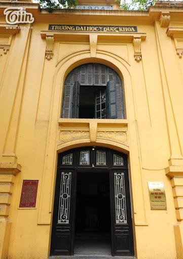 Một góc Đại học Y dược Hà Nội.