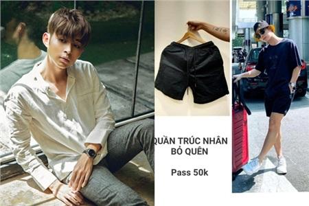 Chiếc quần tà lỏn của Trúc Nhân bị Jun Phạm rao bán với giá 50k.