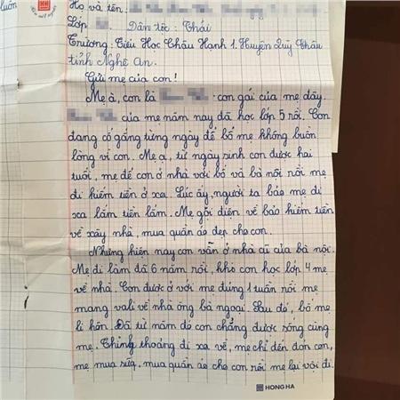 Sự thật về lá thư của học sinh lớp 5 đang gây bão mạng: 'Con mong mẹ hiểu, mẹ còn đứa con gái đang sống cùng bà nội' 1