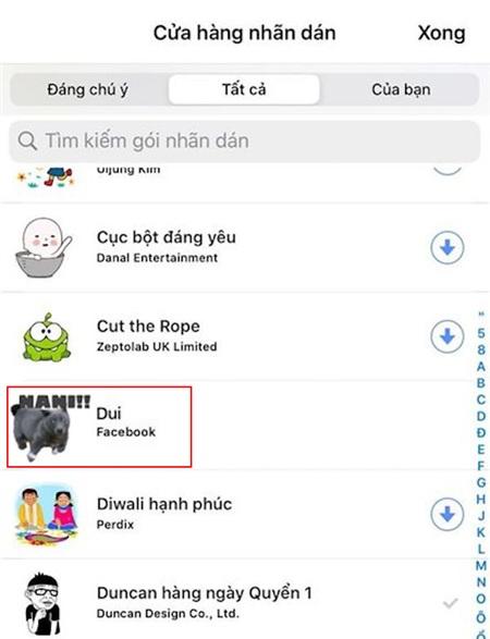 Nguyễn Văn Dúi xuất hiện trên bộ nhãn dán mới của cửa hàng Messenger? 1