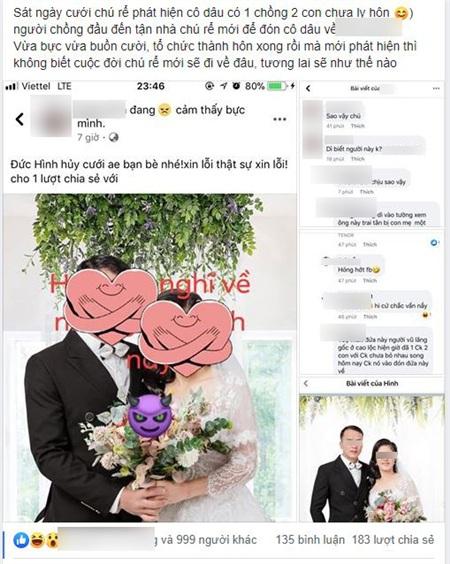 Chú rể hủy hôn ngay sát ngày cưới.