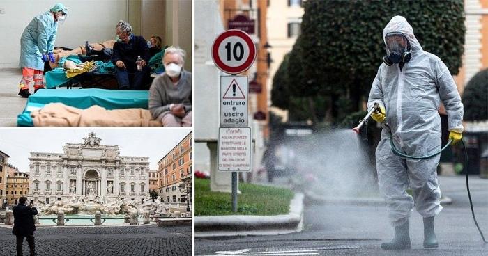 Italy vẫn là quốc gia châu Âu chịu ảnh hưởng nặng nề nhất do dịch bệnh Covid-19, đứng thứ 2 chỉ sau Trung Quốc. (Nguồn: AFP)