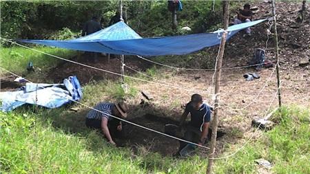 Công trình khai quật đã bắt đầu từ sân sau của một trại gia súc- ảnh do nhóm nghiên cứu cung cấp