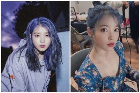 Nữ ca sĩ tài năng khiến fans 'mát mắt' với màu tóc xanh dương trong đợt trở lại với ca khúc chủ đề 'Blueming'.