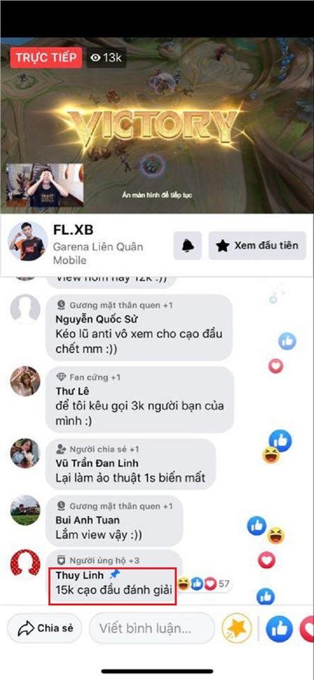 Thùy Linh ghim bình luận 15.000 views Xuân Bách sẽ cạo đầu