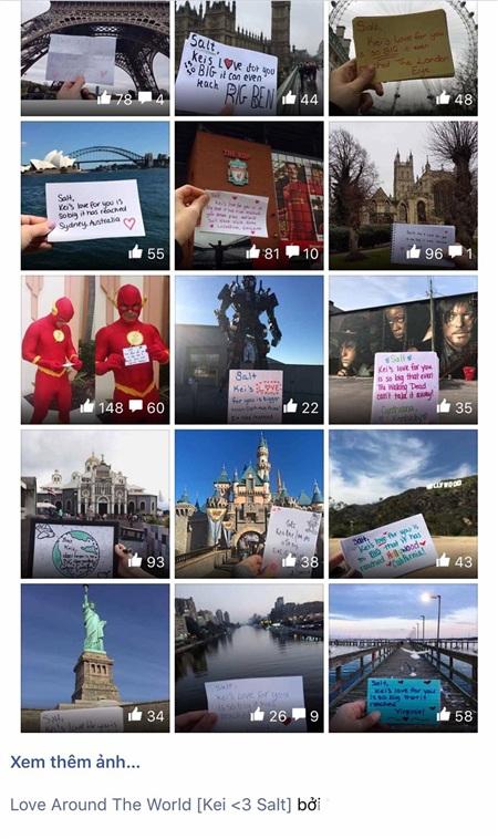 Album 'Love around the world' mà Lam Linh dành cả 1 tháng trời thực hiện để tặng cho bạn trai