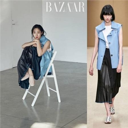 'Thả dáng' quá đỉnh, Park Min Young liên tục được khen diện đồ đẹp hơn người mẫu của hãng 4