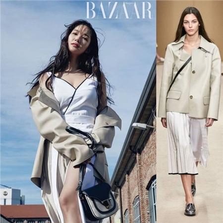 Hầu hết các items mà nàng 'Thư ký Kim' diện trên bìa tạp chí Bazaar đều được đánh giá là đẹp hơn hẳn người mẫu nhờ vào thần thái và nhan sắc đỉnh cao.