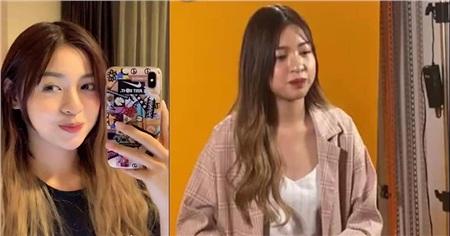 Thanh Tâm trong clip trên tik tok (trái) và Thanh Tâm khi được người khác chụp (phải)