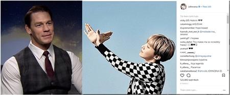 John Cena đăng tải hình ảnhthành viên J-Hope trong photobook album You Never Walk Alone của BTS.