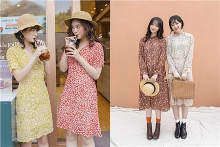Váy hoa có rất nhiều tông màu nổi bật và giúp các nàng tôn dáng hoàn hảo.