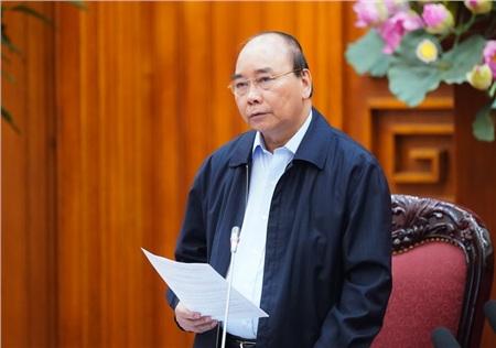 Thủ tướng Nguyễn Xuân Phúc phát biểu tại cuộc họp. Ảnh: Quang Hiếu/VGP