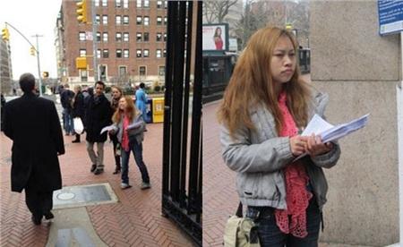 Cô nàng từng đi phát tờ rơi để tuyển chồng.