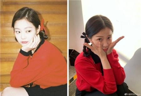 'Phát cuồng' vì Lisa nhưng 'thánh làm lố' Ngu Thư Hân lại nhiều lần bắt chước cách ăn mặc của Jennie 3